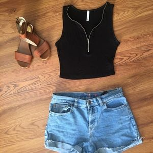 Cut off shorts and top
